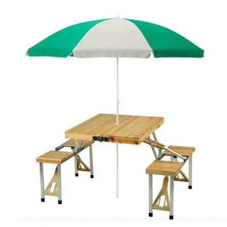 میز و صندلی تاشو مسافرتی با چتر