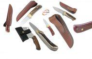 تنوعی بکر از انواع تبرها و چاقوهای دست ساز